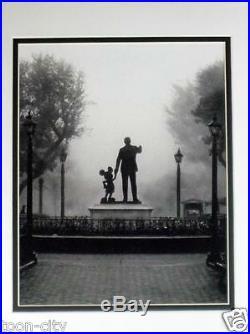 Disneyland in the FOG Mickey & Walt Disney wait Art image Frame NEW partners