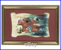 Disneys Peter Pan 65th Anniversary Jumbo Framed Neverland Map 6 Pin Set LE 500