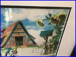 Donald Duck Cel Walt Disney Cartoon Art Wise Little Hen Framed