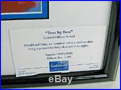 Donald Duck Walt Disney Fantasia 2000 Framed Sericel Cert of Authenticity NWT