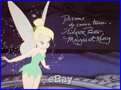 Dreams Come True Autographed Margaret Kerry Tinker Bell Walt Disney NEW FRAME