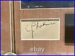 Edward G. Robinson Hand Signed Autograph in Frame Walt Disney Co