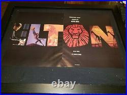 Elton John Walt Disney 30th Anniversary Rare Original Promo Poster Ad Framed