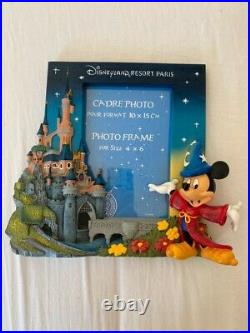 Extremely Rare! Walt Disney Mickey Mouse Fantasia Figurine 3D Frame Statue