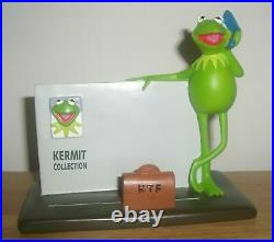 Extremely Rare! Walt Disney Muppets Kermit on the Phone Figurine Frame Statue