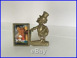 Extremely Rare! Walt Disney Scrooge McDuck Old Brass Photo Frame