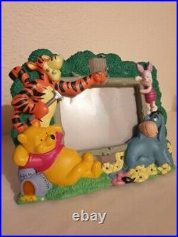 Extremely Rare! Walt Disney Winnie The Pooh Figurine 3D Picture Frame Statue