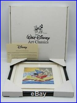 Fantasia Mickey Walt Disney Art Classics Mixed Media Framed Serigraph Box COA