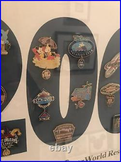 Framed 2001 Walt Disney World Resorts Limted Edition Pin Set
