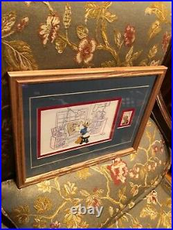 Framed Art Picture Walt Disney1999 Donald Duck Cell Animation Gallery-stamp