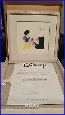Framed Disney Treasures Snow White & Witch & Apple Serigraph Etching COA & Box