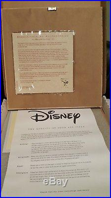 Framed Disney Treasures Snow White with Animals Serigraph Etching COA & Box