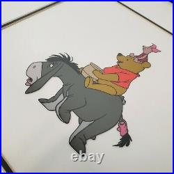 Framed Disney Winnie The Pooh & The Blustery Day LE Serigraph Cel 1968 w Stamp