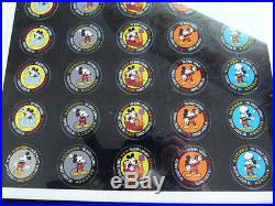 Framed Mickey Mouse Uncut Sheet 50 POGs with RARE Instant Winner POG