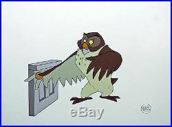 Framed Original Walt Disney Winnie the Pooh Production Cel of Owl