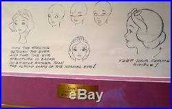 Framed Snow White Original Walt Disney Productions Model Sheet
