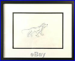 Framed Walt Disney Animation Art Production Drawing of Scar from The Lion King