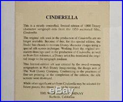 Framed Walt Disney Cinderella In Ball Gown Limited Edition Serigraph