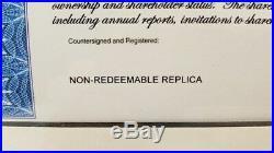 Framed Walt Disney Company Stock Certificate