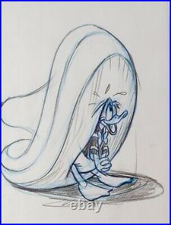 Framed Walt Disney Donald Duck Big Sombrero Pre-Production Drawing JL18