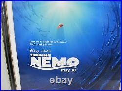 Framed Walt Disney FINDING NEMO Original Cartoon One Sheet 2003 Movie Poster