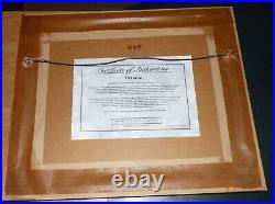 Framed Walt Disney Mickey Mouse Fantasia Sericel Ltd Edition withCOA & Background