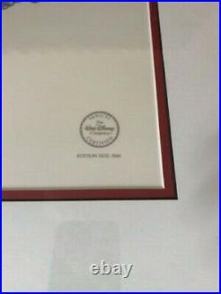 Framed Walt Disney Mickey Mouse -Sorcerer's Apprentice- LE 5000 Serigraph cel