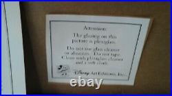 Framed Walt Disney Serigraph Seal Winnie Pooh & Christopher Robin 16 X 19 Xlnt