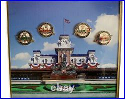Framed Walt Disney Steam Locomotive Limited Edition Commemorative Pin Set 2003