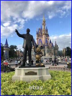Framed Walter E Disney Signed Autograph Index Card Walt Mickey Beckett COA LOA