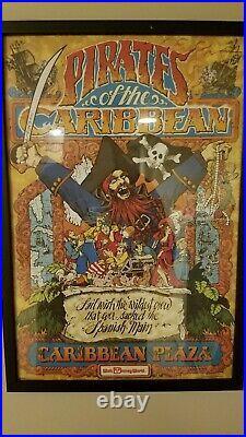 GLASS FRAMED Walt Disney World Attraction Poster Art Set 12x18