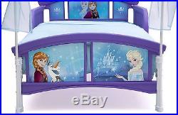 Girls Toddler Canopy Bed Frame Disney Frozen Modern Kids Bedroom Furniture