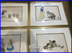HUGE Lot Walt Disney Serigraph Framed Goofy Donald Mickey RARE ART FREE SHIP