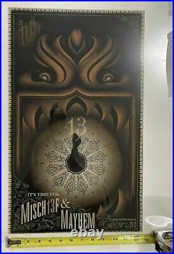 Haunted Mansion Misch13f & Mayhem Walt Disney World 2013 Art Custom Frame HTF
