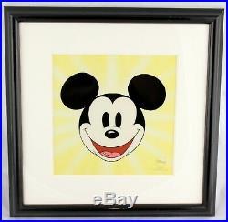 Here's Mickey Mouse Sericel Framed Walt Disney Limited Edition 2500 COA Art EUC