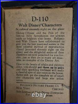 Horace Horsecollar Reliance glass framed Walt Disney Early Picture 30s