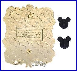 JUMBO LE 100 Disney Auctions PinSnow White Prince Framed with Dwarfs Dopey Grumpy