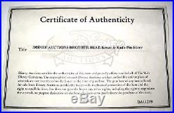 LE 100 SILVER Disney Auction PinBrother Bear Kenai Koda Piece Movie Film Frame