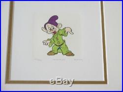 LF41725C Walt Disney Framed & Matted Original Signed Etchings