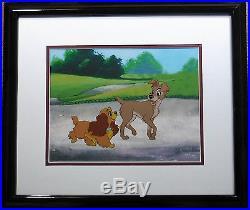 Lady and the Tramp Disney Cel Sericel New Custom Background frame 1995 CoA