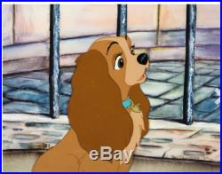 Lady and the Tramp Lady Original Production Cel Walt Disney 1955 Deluxe Frame