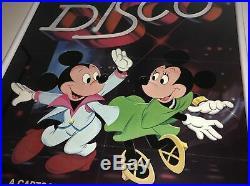 Lillian Disney 1979 Mickey Mouse Disco Framed Poster Historic Walt Disney Prod