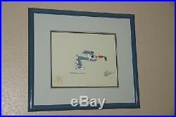 Looney Looney Movie Bugs Bunny Signed Original Animation Cel Hand-painted Framed