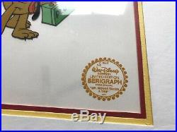 Lot (3) Walt Disney Limited Edition Serigraph Cel Framed Goofy Mickey Pooh Duck