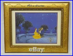 Lot 5 Walt Disney Direct Beauty And The Beast Framed Lithograph Art Prints Belle
