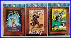 Lot of (13) Walt Disney Pins DLR 2003 Framed Attraction Posters LE 1500