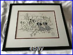 Ltd Edition Framed Walt Disney Sericel 101 Dalmatians Hopeful Pups (1996)