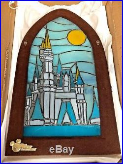 MINT Disney DVC Member Cruise Exclusive Cinderella Castle Stained Glass Frame
