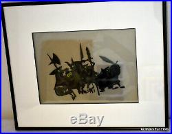 Maleficent's Goons Vintage Original Production Cell Walt Disney. Matted & Framed