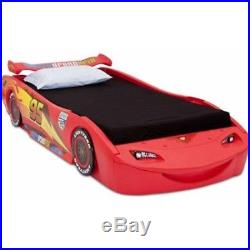 McQueen Shaped Kids Bed Frame with Lights Cars Lightening Mc Queen Red Boy Bed New